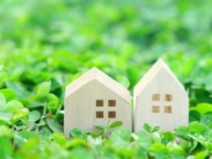 写真素材:緑:家