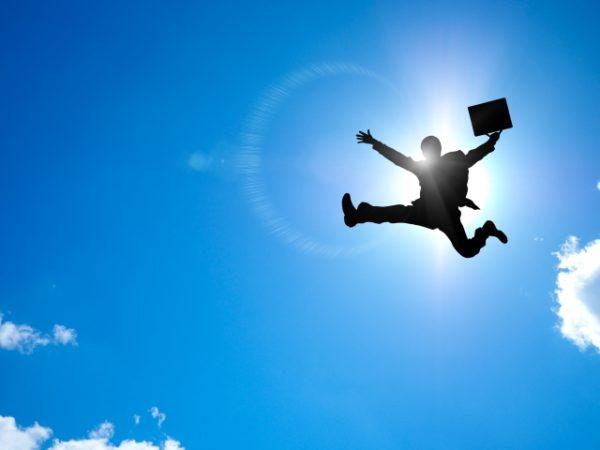 写真素材:空:ジャンプ